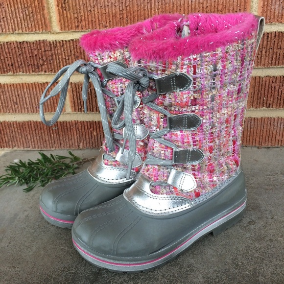 Ozark Trail Other - Ozark Trail Girls Pink Snow Boots Size 13